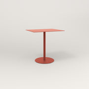 RAD Cafe Table, Rectangular 2 Top Weighted Base in aluminum and red powder coat.