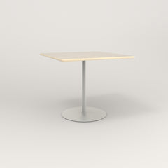 RAD Cafe Table, Rectangular 4 Top Weighted Base in solid ash and white powder coat.