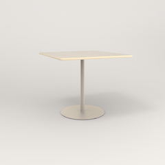 RAD Cafe Table, Rectangular 4 Top Weighted Base in solid ash and off-white powder coat.