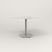 RAD Cafe Table, Rectangular 4 Top Weighted Base in aluminum and grey powder coat.