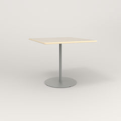 RAD Cafe Table, Rectangular 4 Top Weighted Base in solid ash and grey powder coat.