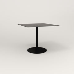 RAD Cafe Table, Rectangular 4 Top Weighted Base in aluminum and black powder coat.