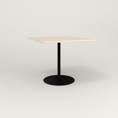 RAD Cafe Table, Rectangular 4 Top Weighted Base in solid ash and black powder coat.