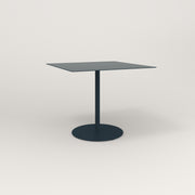 RAD Cafe Table, Rectangular 4 Top Weighted Base in aluminum and navy powder coat.