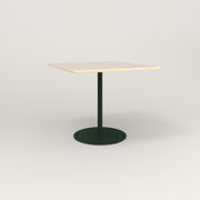 RAD Cafe Table, Rectangular 4 Top Weighted Base in solid ash and fir green powder coat.