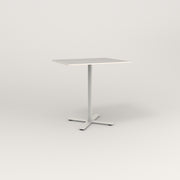 RAD Cafe Table, Rectangular X Base in acrylic and white powder coat.