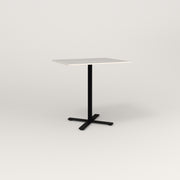 RAD Cafe Table, Rectangular X Base in acrylic and black powder coat.