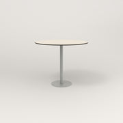 RAD Cafe Table, Round Bolt Down Base in hpl and grey powder coat.