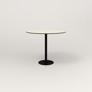 RAD Cafe Table, Round Bolt Down Base in hpl and black powder coat.