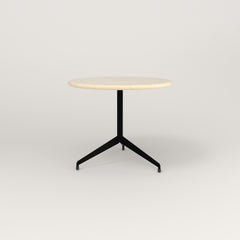 RAD Cafe Table, Round Flat Tripod Base in solid ash and black powder coat.