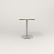 RAD Cafe Table, Round Weighted Base in hpl and grey powder coat.