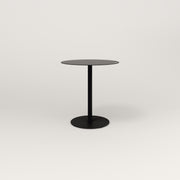 RAD Cafe Table, Round Weighted Base in aluminum and black powder coat.