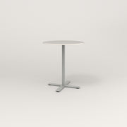 RAD Cafe Table, Round X Base in acrylic and grey powder coat.