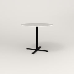 RAD Cafe Table, Round X Base in acrylic and black powder coat.