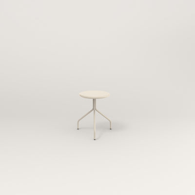 RAD Cafe Stool in off-white powder coat.