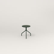 RAD Cafe Stool in fir green powder coat.