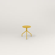 RAD Cafe Stool in yellow powder coat.