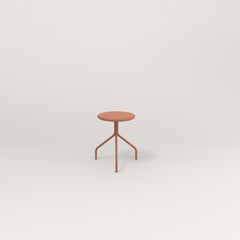 RAD Cafe Stool in coral powder coat.