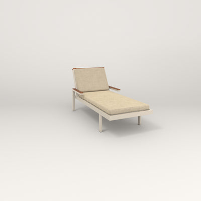 RAD Square Chaise in off-white powder coat.