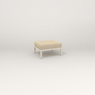 RAD Square Ottoman in off-white powder coat.