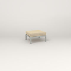 RAD Square Ottoman in grey powder coat.