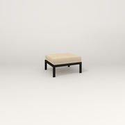 RAD Square Ottoman in black powder coat.