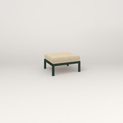 RAD Square Ottoman in fir green powder coat.