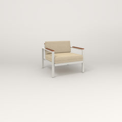 RAD Square Lounge Chair in white powder coat.