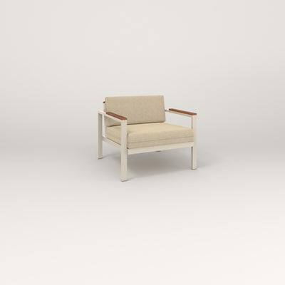 RAD Square Lounge Chair in off-white powder coat.