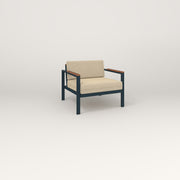 RAD Square Lounge Chair in navy powder coat.