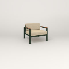 RAD Square Lounge Chair in fir green powder coat.