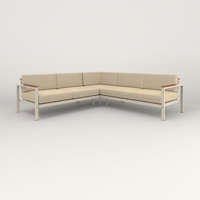 RAD Square Sofa — Sectional in off-white powder coat.