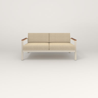 RAD Square Sofa — Medium in off-white powder coat.