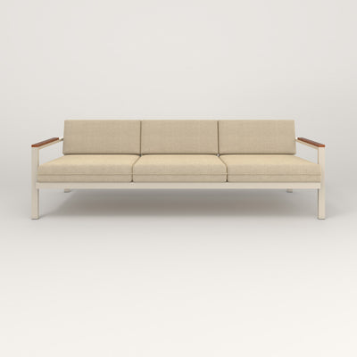 RAD Square Sofa — Large in off-white powder coat.