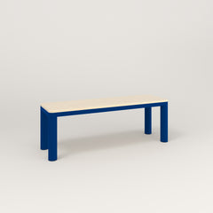 RAD Radius Bench in solid ash and new blue powder coat.