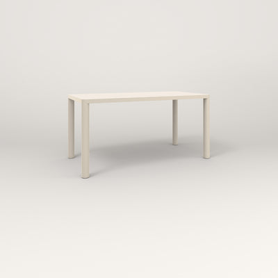 RAD Radius Table in solid steel and off-white powder coat.