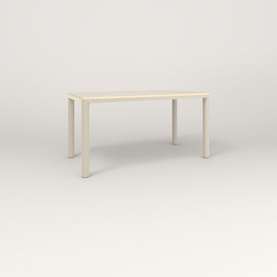 RAD Radius Table in solid ash and off-white powder coat.