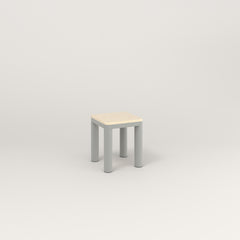 RAD Radius Simple Stool in solid ash and grey powder coat.