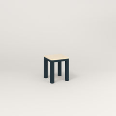 RAD Radius Simple Stool in solid ash and navy powder coat.