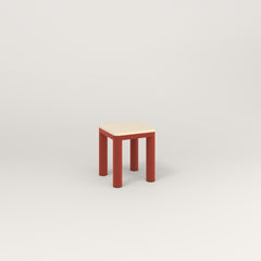 RAD Radius Simple Stool in solid ash and red powder coat.