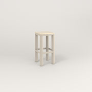 RAD Radius Simple Stool in solid ash and off-white powder coat.