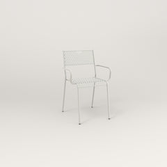 RAD Signature Arm Chair in perforated steel and white powder coat.