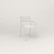 RAD Signature Arm Chair Slatted Steel in white powder coat.