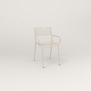 RAD Signature Arm Chair in perforated steel and off-white powder coat.