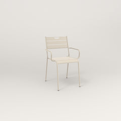 RAD Signature Arm Chair Slatted Steel in off-white powder coat.