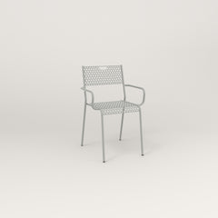 RAD Signature Arm Chair in perforated steel and grey powder coat.