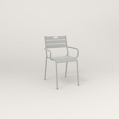RAD Signature Arm Chair Slatted Steel in grey powder coat.