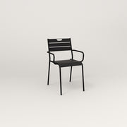 RAD Signature Arm Chair Slatted Steel in black powder coat.