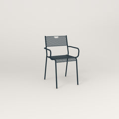 RAD Signature Arm Chair in perforated steel and navy powder coat.