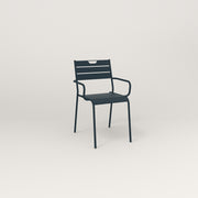 RAD Signature Arm Chair Slatted Steel in navy powder coat.